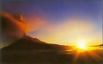 Erupción Volcán Tungurahua Ecuador 1 De Febrero De 2014 Igeo Tv