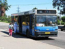 Автобус 1-го маршрута.