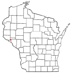 Location of Frankfort, Pepin County, Wisconsin