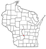Location of Wisconsin Dells in the state of ویسکانسین