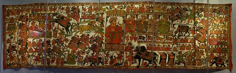 File:WLANL - Pachango - Tropenmuseum - Pabuji-verteldoek (panorama).jpg