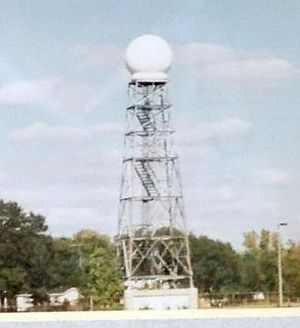 National Weather Service Lincoln, Illinois - The Springfield WSR-74C radar, installed in 1974.