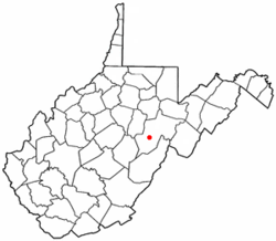 Location of Huttonsville, West Virginia