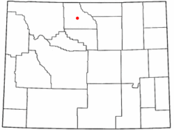 Location of Greybull, Wyoming