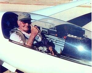 Wally Scott - Wally Scott in his Schleicher ASW 20 sailplane