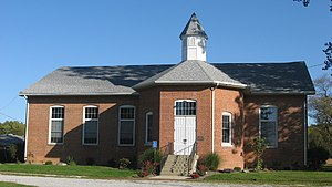 Ripley Township, Rush County, Indiana - Walnut Ridge Friends Meetinghouse, a historic site in the township