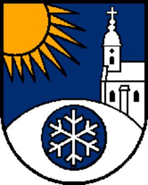 Snowflake (heraldry) - Image: Wappen at kirchschlag bei linz