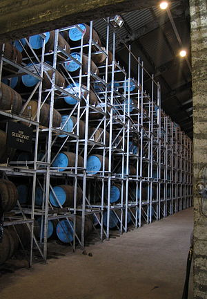 Warehouse for maturing of Glenlivet Distillery...