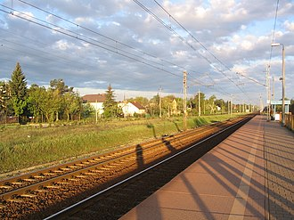 Warszawa Wesoła railway station - Image: Warszawa Wesoła Peron