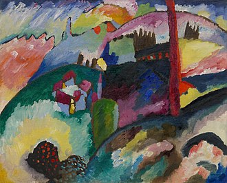 Wassily Kandinsky - Wassily Kandinsky, 1910, Landscape with Factory Chimney, oil on canvas, 66.2 x 82 cm, Solomon R. Guggenheim Museum