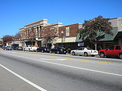 Downtown Waynesboro, within the historic district