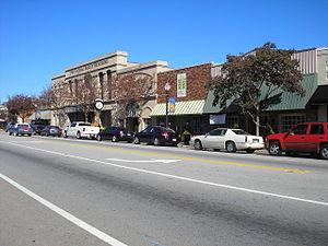 Waynesboro, Georgia - Downtown Waynesboro, within the historic district