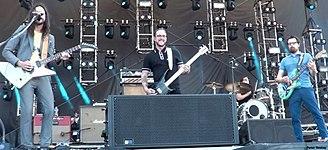 Weezer - Image: Weezer Performing in 2015 Photo by Peter Dzubay