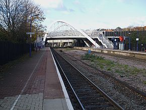 Wembley stadium stn look west.JPG