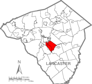 West Lampeter Township, Lancaster County, Pennsylvania - Image: West Lampeter Township, Lancaster County Highlighted