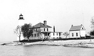 West Sister Island - West Sister Light with Keeper's Dwelling