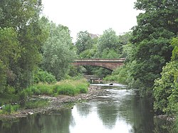 The River Kelvin passing through the park