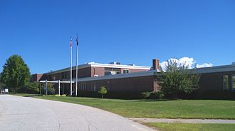 White Mountains Community College - Main entrance of WMCC in Berlin, New Hampshire