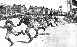 "Charles Widman - ""Widman of Michigan, Pursued by Chicago Players, Runs for Glory and a Touchdown"""