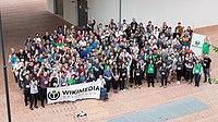 Wikimedia Hackathon Vienna 2017-05-20 GROUP PHOTO 03 16to9.jpg