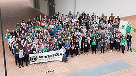 """Photo of participants of the Wikimedia Hackathon 2017"""