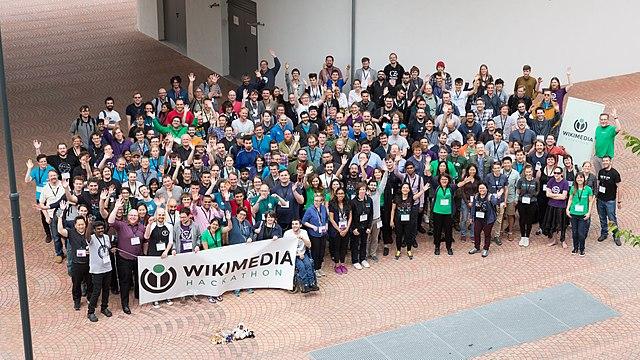 Group photo at Wikimedia Hackathon 2017 in Vienna, Austria.