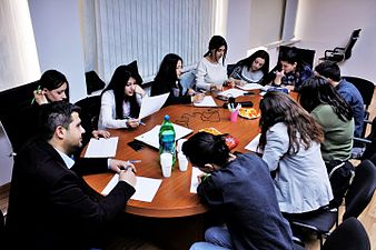 Wikimedia strategy discussion at Wikimedia Armenia office 07.jpg