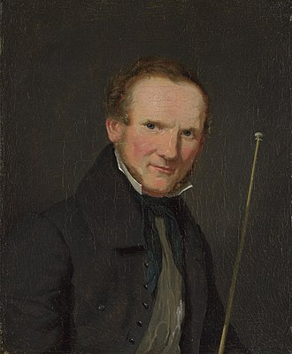 Wilhelm Bendz - Christen Købke, Portrait of Wilhelm Bendz, oil on canvas, c. 1830