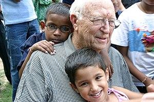 William H. Gates Sr. - Gates Sr. visits the Naz Foundation's care centre for HIV Positive children, during his visit to India in September 2004