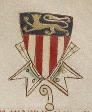 William of Savoy - Coat of arms of William of Savoy (Matthew Paris, c. 1255)