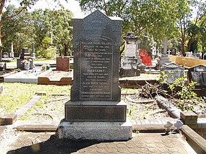William Gillies (Australian politician) - William Gillies' headstone at Brisbane's Toowong Cemetery.