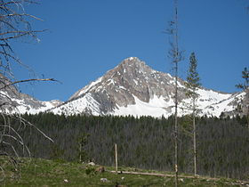 A photo of Williams Peak from the northwest