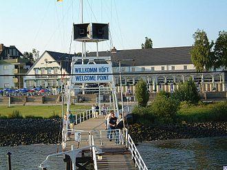Willkomm-Höft - Welcome Point with Schulau Ferry Building