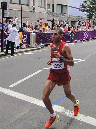Tunisia at the 2012 Summer Olympics - Wissem Hosni finished seventy-first in men's marathon.