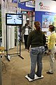 Woman playing Nintendo Wii console at Regiontour 2010.jpg