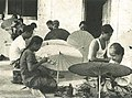Women painting parasols, Wanita di Indonesia p92 (Ministry of Information).jpg