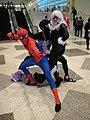 WonderCon 2011 - Spider-Man, black costume Spider-Man, and Black Cat (5593932258).jpg
