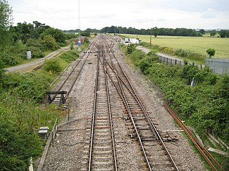 Woodborough railway station - Woodborough Sidings, the site of the former station
