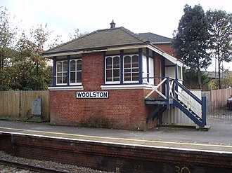 Woolston railway station - Image: Woolston signal box