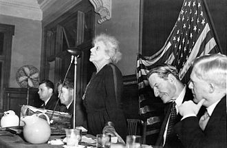 Stephen Samuel Wise - Jewish activist Louise Waterman Wise, addressing the 1944 War Emergency Conference of the World Jewish Congress her husband was president of, in Atlantic City