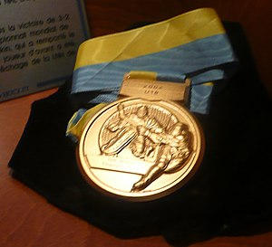 IIHF World U18 Championship - A gold medal that was awarded at the 2004 tournament