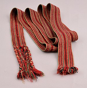 Tablet weaving - Woven belt for Norwegian national costume