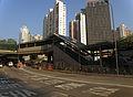 Wuhu Street escalator of Ho Man Tin Station exits B1 under construction in January 2016.jpg