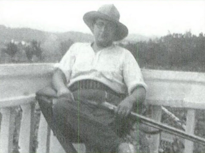 Xosé María Álvarez Blázquez en Baión en 1934
