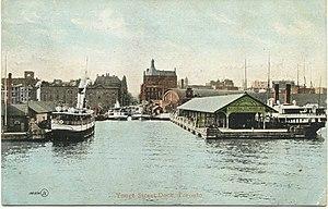 Toronto Harbour - Yonge Street Dock, 1906