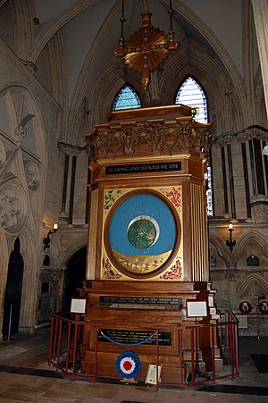 York Minster astronomical clock - The clock photographed in 2007.
