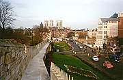 Looking towards the Minster from the city walls