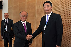 Banri Kaieda - with Yukiya Amano (left) (June 20, 2011)