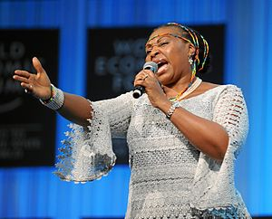 Yvonne Chaka Chaka - Image: Yvonne Ntombizodwa Chaka Chaka World Economic Forum Annual Meeting 2012
