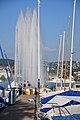 Zürich - Enge - Hafen - Springbrunnen 2010-08-21 18-52-46.JPG